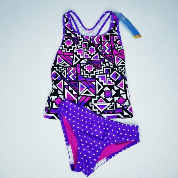 Speedo Other - Speedo Girls' Mixed Print Tankini Set - NWT